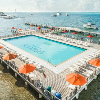 Outdoor Swimming Pool Ghl Relax Hotel Sunrise San Andrés