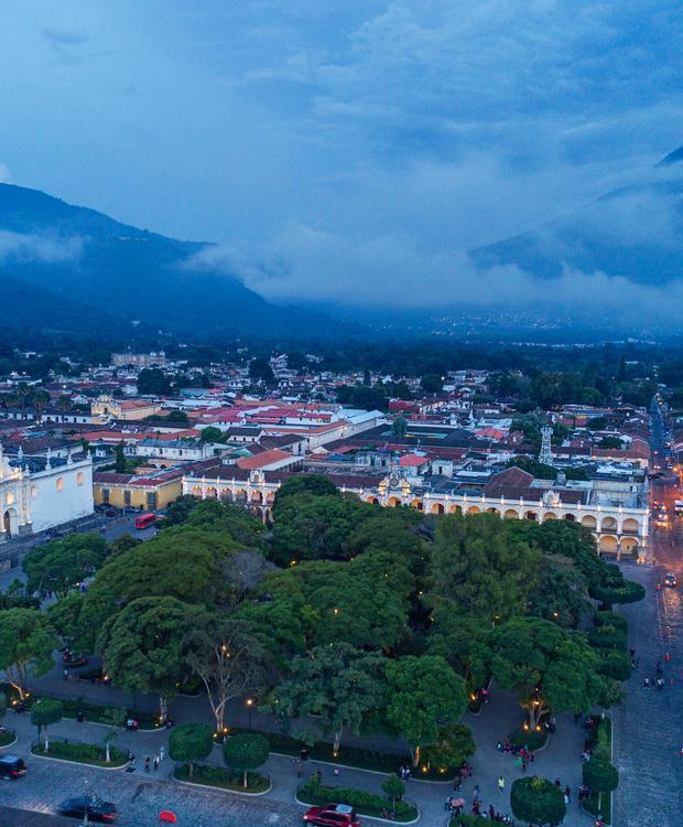 Antigua Park Aerial Hyatt Centric Guatemala City Hotel Guatemala City