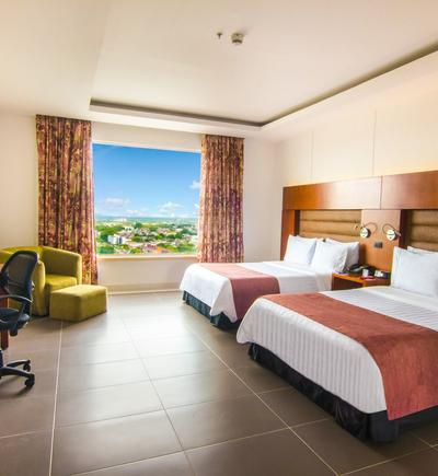 Twin room - 2 double beds ghl hotel grand villavicencio