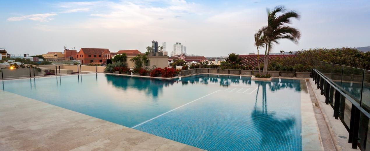 Swimming pool in Bastión Luxury Hotel  Cartagena