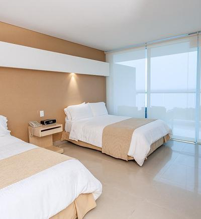 Standard two double bed room sonesta hotel cartagena